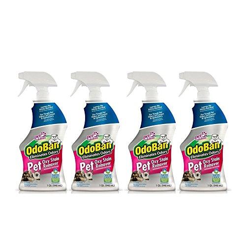OdoBan Pet Oxy Stain Remover & Odor Eliminator, 32 fl. oz, 4 Pack