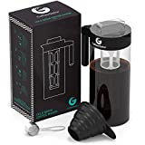 #4: Cold Brew Coffee and Tea Maker – 47floz Kit Including Steel Scoop and Funnel by Coffee Gator – Black