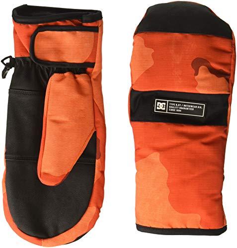 DC Men's Franchise MITT Snow Glove, red/orange DCU camo melon, M (Dc Snowboarding Gloves)