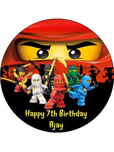 Lego Ninjago 7 5 Redondo Comestible Decoracion Para Tarta Para