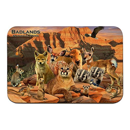 GRAPHICS & MORE Badlands National Park South Dakota SD Animals Cougar Coyote Home Business Office Sign - Wood - 6