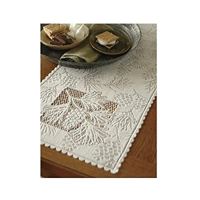 Heritage Lace Woodland 14-Inch by 45-Inch Runner, Ecru - Table textile Medium-gauge lace Made in USA - table-runners, kitchen-dining-room-table-linens, kitchen-dining-room - 51jjHq%2BfIUL. SS400  -