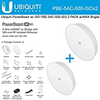 Ubiquiti Networks PBE-5AC-500-ISO-US 2-pack PBE-5AC-500-ISO-US 5GHZ POWERBEAM AC 500MM ISO
