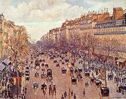 - Home Comforts Laminated Poster Pissarro, Camille - Boulevard Montmartre Vivid Imagery Poster Print 11 x 17