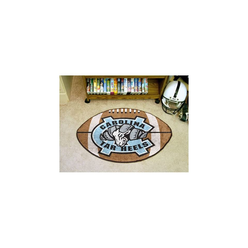 Fanmats Ncaa UNC North Carolina 2400 Chapel Hill College Sports Fan Team Logo Home Decorative Football Shaped Area Rug Welcome Floor Mat Rug 22x35