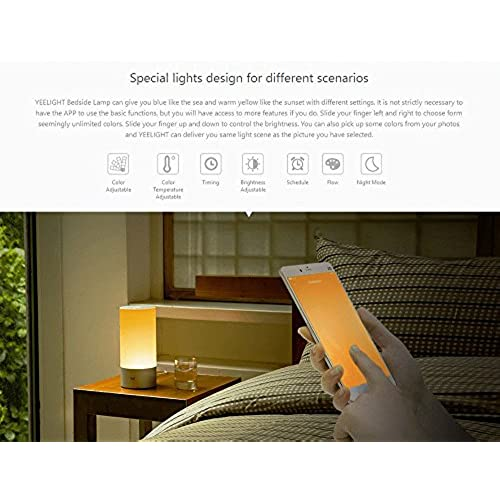 Yeelight Chevet Couleurs Lampe Intérieure De Xiaomi Millions 16 K13JTcFl