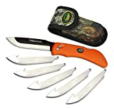 Outdoor Edge RazorBlaze, RB-20, Replaceable Razor Blade Hunting Knife, Blaze Orange Handle