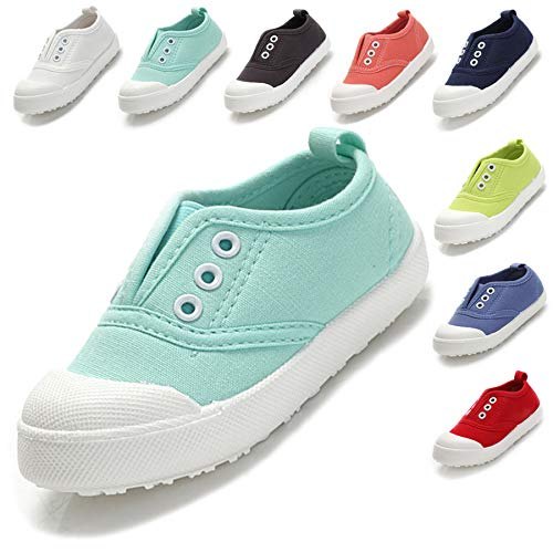 Kikiz Candy Color Kids Toddler Canvas Sneaker Boys Girls Casual Shoes Mint 8 M US Toddler