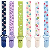 Pacifier Clip by Willceal 6 Pack - Adjustable and Premium Quality with Modern Design - Pacifier/Teething Ring Holder for Boys and Girls