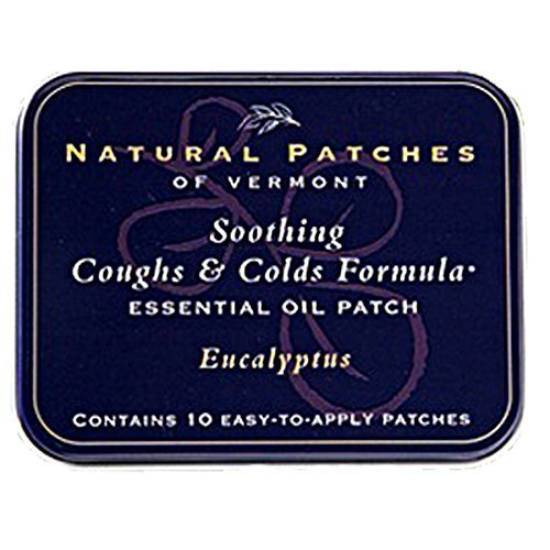 Natural Patches Of Vermont Essential Oil Patches Eucalyptus, Coughs & Cold Relief 10 Count Tins ()