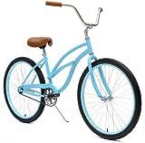 Critical Cycles Women's Beach Cruiser 1-Speed Bike, Light Blue