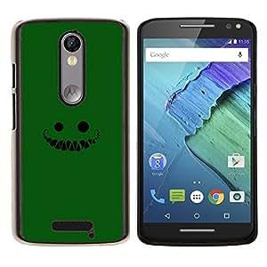 LECELL--Funda protectora / Cubierta / Piel For Motorola MOTO X3 3rd -- Cara verde --