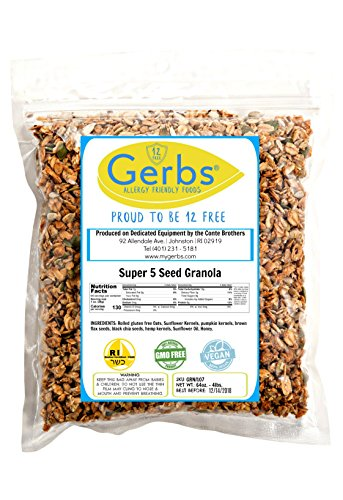 Super-5-Seed-Granola-4-LBS-By-Gerbs-Top-12-Food-Allergy-Free-NON-GMO-Preservative-Free-Kosher-Pumpkin-Sunflower-Chia-Hemp-Flax-Seeds
