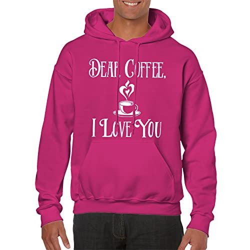 Cheap Dear Coffee, I Love You Hooded Sweatshirt, SpiritForged Apparel for sale