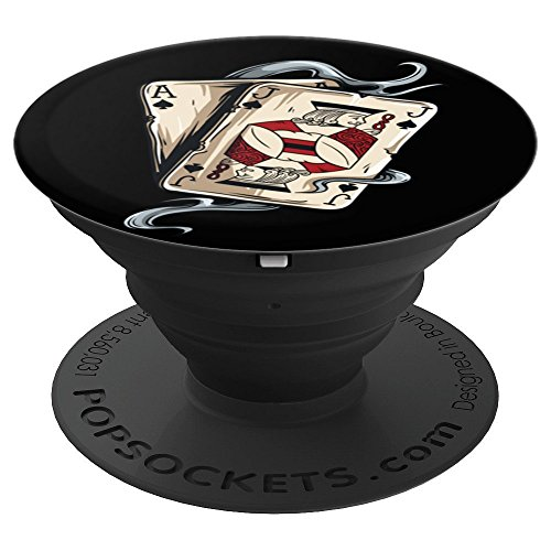 Ace Jack playing cards pop socket Poker Black jack players - PopSockets Grip and Stand for Phones and ()