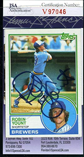 ROBIN YOUNT 1983 Topps Coa Autograph Authentic Hand Signed - JSA Certified - Baseball Slabbed Autographed ()