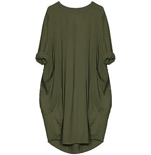 Tomatoa Damen Kleider Loose-Pocket Kleider Damen T-Shirts Casual Lange  Oberteile Kleider Pyjamas 310cd641e3