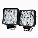 LITE-WAY 2PCS 2X80W 4Inch Cube Work Light Cree Flood LED Light Bar Offroad 4WD Truck Atv Utv Suv Tractor Driving Lamp, 1 Year Warranty, WL-080S-FLOOD*2