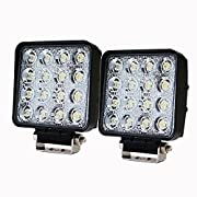 Amazon Lightning Deal 70% claimed: LITE-WAY 2PCS 2X80W 4Inch Cube Work Light Cree Flood LED Light Bar Offroad 4WD Truck Atv Utv Suv Tractor Driving Lamp, 1 Year Warranty, WL-080S-FLOOD*2