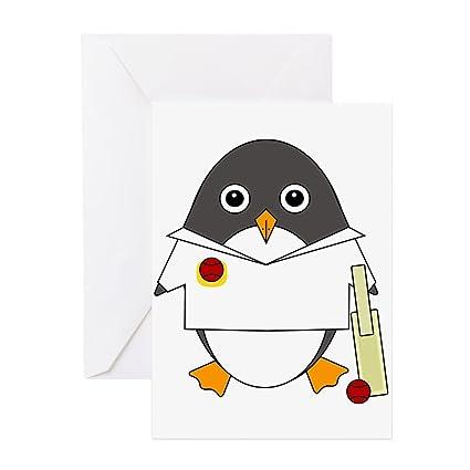 Amazon Cafepress Cricket Penguin Greeting Card Note Card