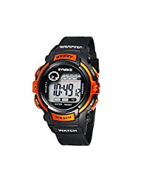 Multifunction Kids Sports Watches 3ATM Water Resistance Backlight Digital Wrist Watches Orange