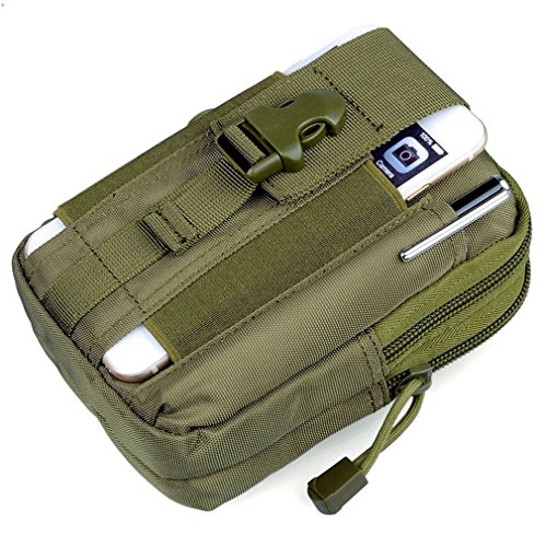 GEEAUASSD Military Tactics Hang Pocket Encryption Nylon Waist Pack fishing outdoor photography Backpack Sports Leisure Bag(Army green) Army green