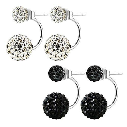 JewelrieShop Assorted Hypoallergenic Earrings Rhinestones
