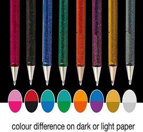 /oro//argento Pentel XK110//2-xxzx ibrido Dual Metallic gel Pen/
