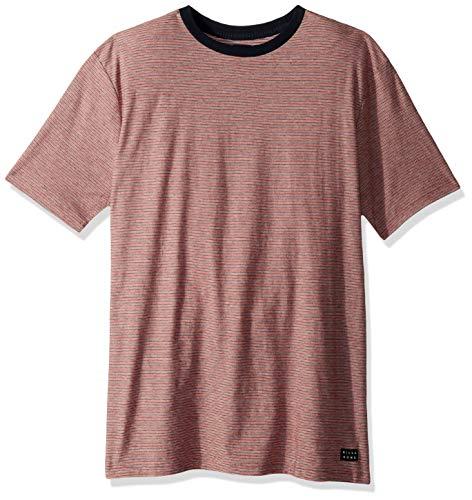 (Billabong Men's Die Cut Stripe Short Sleeve Crew Shirt Eggshell 2XL)