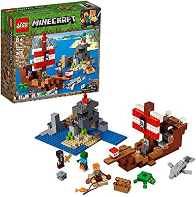 Lego Minecraft The Pirate Ship Adventure 21152 Building Kit 386 Pieces Amazon Sg Toys Games