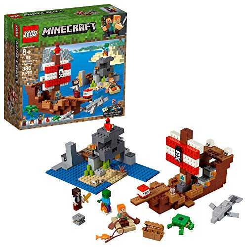 LEGO Minecraft The Pirate Ship Adventure 21152 Building Kit, 2019 (386 Pieces) (Lego Building Gun)