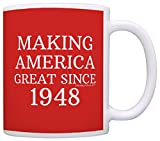 70th Birthday Gifts For All Making America Great Since 1948 Republican Mug Republican Gifts Coffee Mug Tea Cup Red