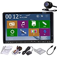 7 Inch Car GPS Radio Player with Backup Camera Bluetooth 2 Din Car Video PC Stereo TV Player Digital Touch Screen
