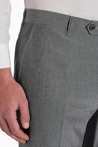 next Homme Pantalon sans pinces Gris Clair 40 / Regular - Regular Fit