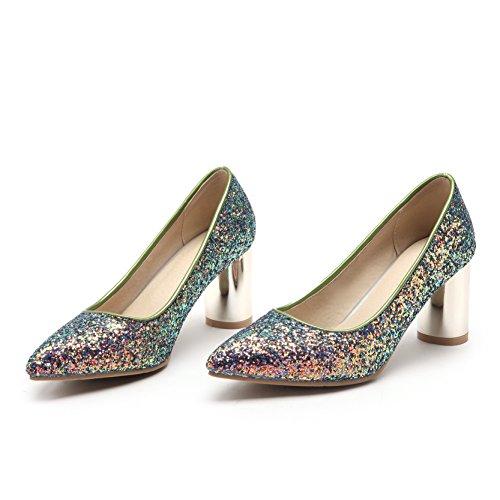 Talons Bouche Multicolore amp;X Chaussures Femmes Peu de Bloc Chaussures CXQ Profonde QIN dwRfn4TqxZ