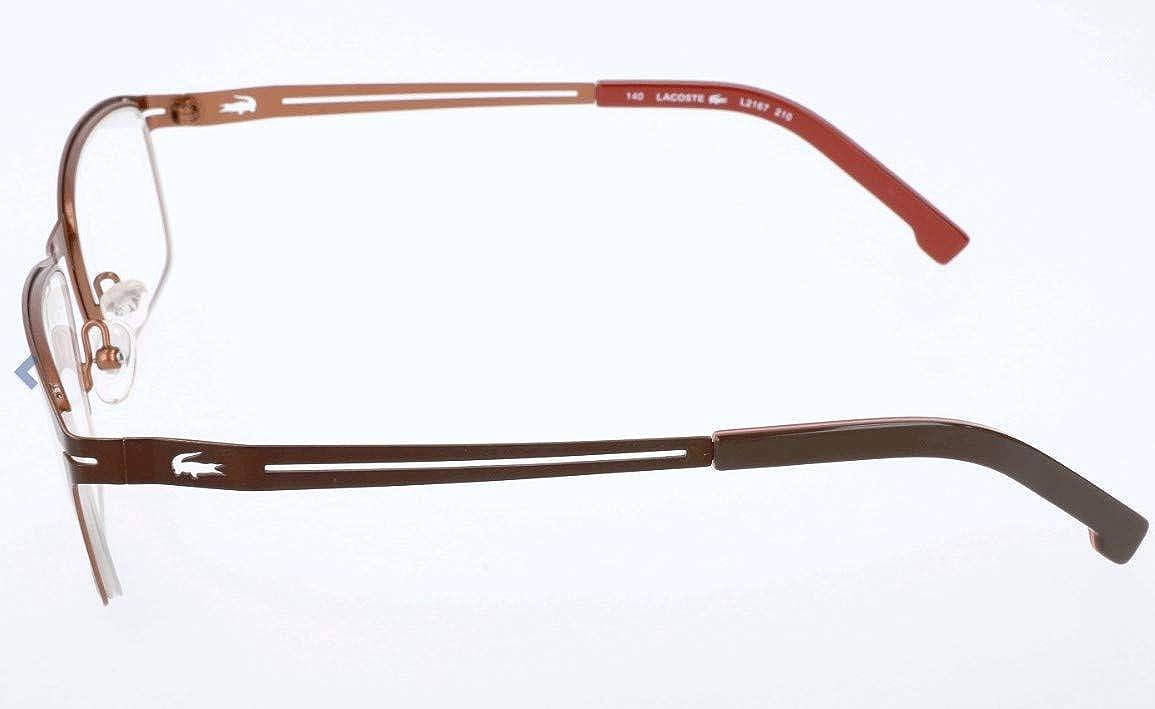 faae7ddf4f4a Amazon.com  LACOSTE Eyeglasses L2167 210 Satin Brown 53MM  Clothing
