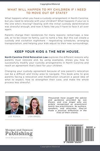 North Carolina Child Relocation Law Lee Rosen Lisa Angel
