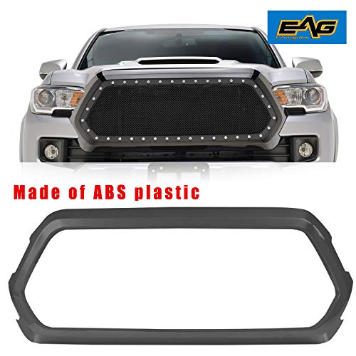EAG Black ABS Plastic Grille Shell Outer Surround Fit for 2016-2018 Toyota Tacoma