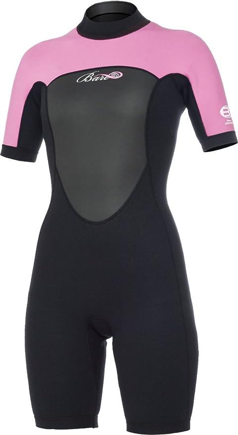 e0b6de4343 Amazon.com   Bare 2mm Ignite Shorty Diving Wetsuits - Womens Pink ...