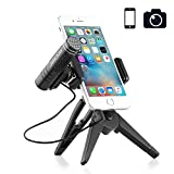 Professional Recording Microphone Phone Camera Microphone with Tripod Stand Shotgun Wireless Microphones for iphone Android,Smartphones, YouTube Video, Interview, Studio