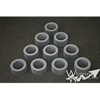 10 Wholesale Widgets 035-14303 Brand Grey Rollers Set of 10 Compatible With Riso RIS03514303CSet