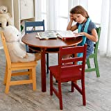 Childrens Walnut Round Table and 4 Chairs Kids Furniture Childrens Furniture Kids Table and Chairs Childrens Chairs Review