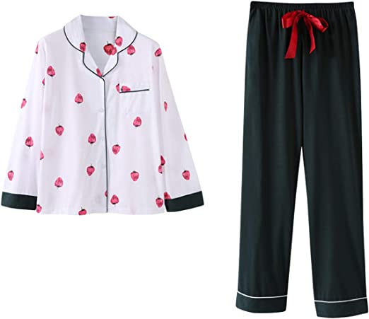 Mens Jersey Pyjamas Slim Fit Full Length Pjs Contrast Nightwear Xmas Gift Size