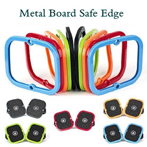 Orange Cover Guards Planche roulettes Edge Silicone New Accessoires Skateboard Skate Paire Freeline Bluelover 1 À OqP16PZx