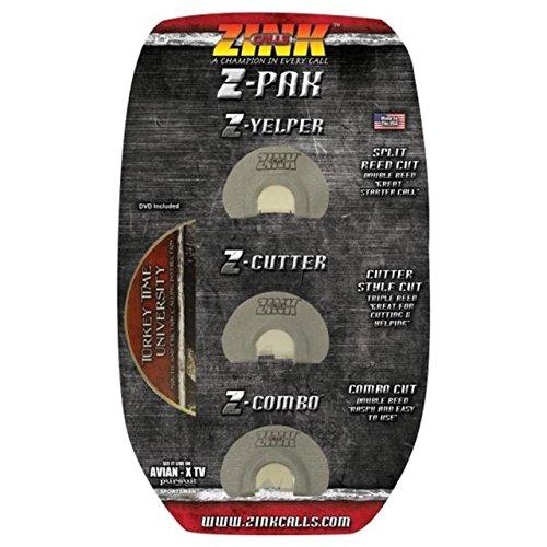 Zink Z Pak combo Diaphragm Turkey Calls - 3 Pack