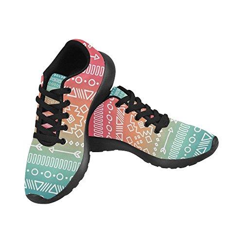 Interestprint Kvinners Joggesko Jogging Lette Sportsgangatletisk Sneaker Etniske Stammene Multi 9