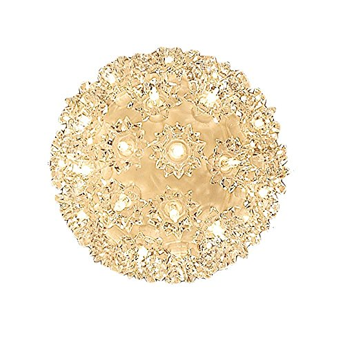 "Novelty Lights SS50-CL Commercial Grade Indoor/Outdoor Christmas Starlight Sphere, Clear, 50 Light, 6"" Diameter, Stackable Plug"