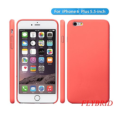 iPhone 6 Plus Case, FlyBrid [Matte Series] iPhone 6 Plus Case [Shockproof] [Scratch-Resistant] [Perfect Fit] Matte Soft Back Cover with Protective Soft-Interior Scratch Protection for iPhone 6 Plus (5.5 inch) (Pink)