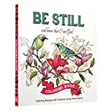 Be Still Inspirational Adult Coloring Therapy Featuring Psalms