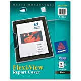 Avery Polypropylene Report Cover, Swing Clip, Letter Size, Clear/Black, Two per Pack (47852)